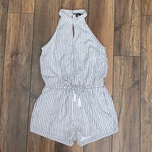 Halter Top Striped Romper